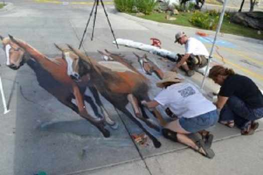 Local Artists Chalk Art 2012